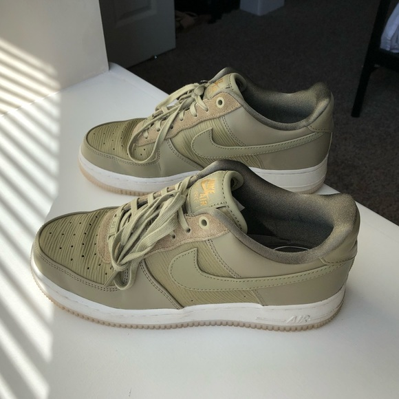 womens olive green air force ones